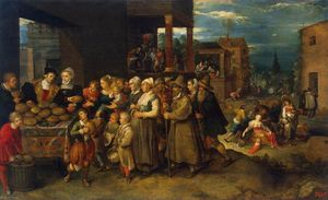 Frans Francken The Younger - il sette `acts` di misericordia