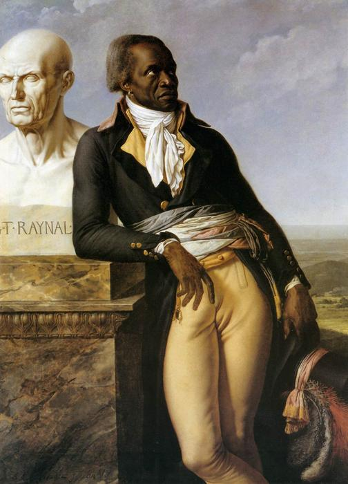 Ritratto di JB Belley, Deputato per Saint-Domingue, olio su tela di Anne Louis Girodet De Roucy Trioson (1767-1824, France)