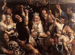 Jacob Jordaens - il re bevande