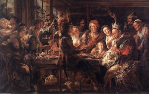 Jacob Jordaens - Il re Bean