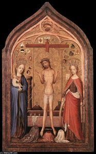 Master Of Saint Veronica - Il Man of Sorrow con la vergine e S Catherine