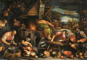 Francesco Bassano The Younger - La fucina di Vulcano