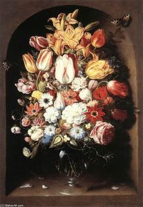 Osias Beert The Elder - Bouquet in una nicchia
