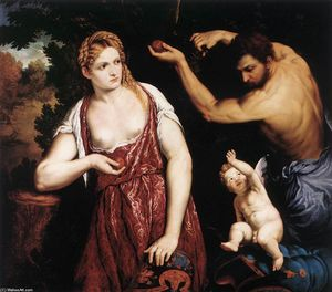 Paris Bordone - Venere e Marte incinta Cupido