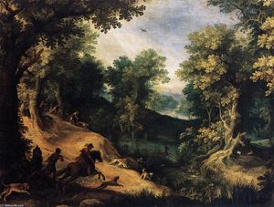 Paul Bril - The Stag Hunt
