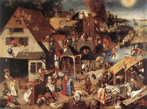Pieter Bruegel The Younger - Proverbi fiamminghi