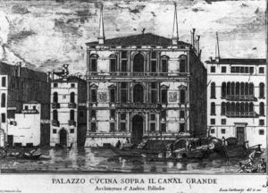 Luca Carlevaris - Palazzo Coccina on the canal grande