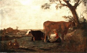 Aelbert Jacobsz Cuyp - The Dairy domestica