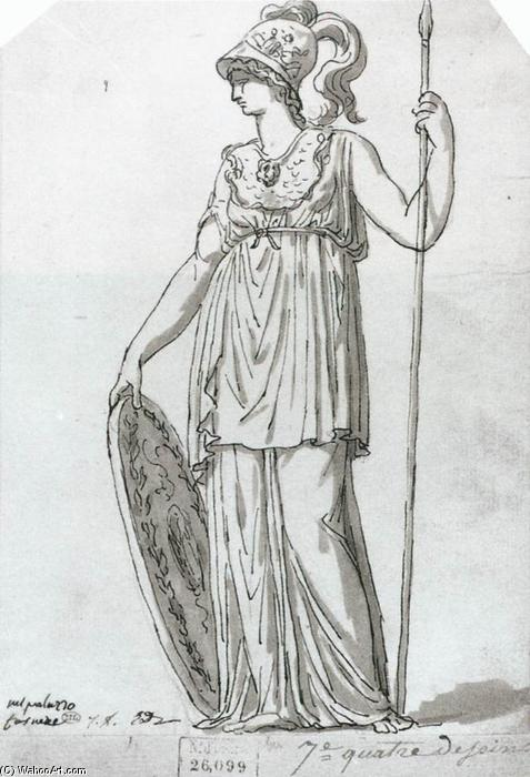 Minerva, penna di Jacques Louis David (1748-1800, France)
