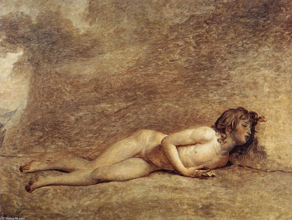 La morte di Bara, olio su tela di Jacques Louis David (1748-1800, France)
