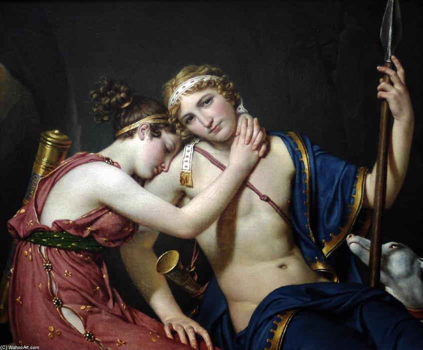 L addio di Telemaco e Eucari, olio su tela di Jacques Louis David (1748-1800, France)
