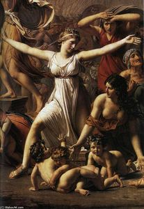 Jacques Louis David - Le Sabine (particolare)