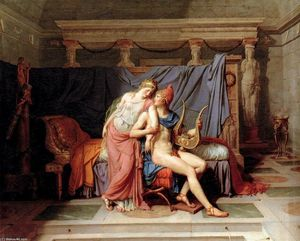 Jacques Louis David - Gli amori di Paride ed Elena