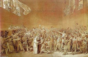 Jacques Louis David - Il giuramento degli Court Tennis