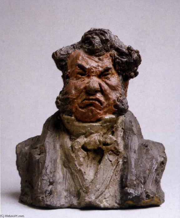 Ordinare Riproduzione Art : Laurent Cunin, Politico (The Angry Man), 1832 di Honoré Daumier (1808-1879, France) | WahooArt.com
