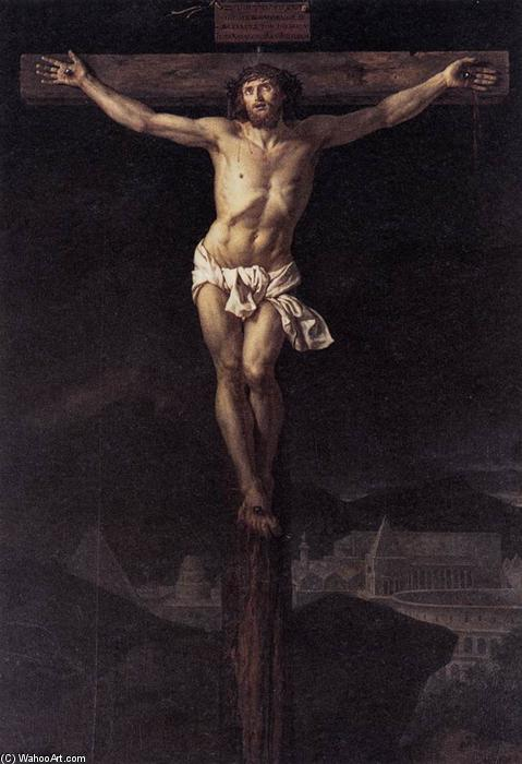 Cristo sulla Croce, olio su tela di Jacques Louis David (1748-1800, France)