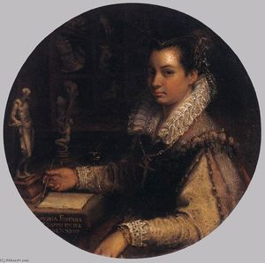 Lavinia Fontana - autoritratto in un studio