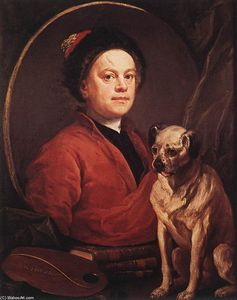 William Hogarth - il pittore e le suo carlino