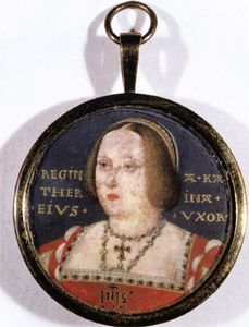 Lucas Horenbout - Ritratto of Catherine of Aragon