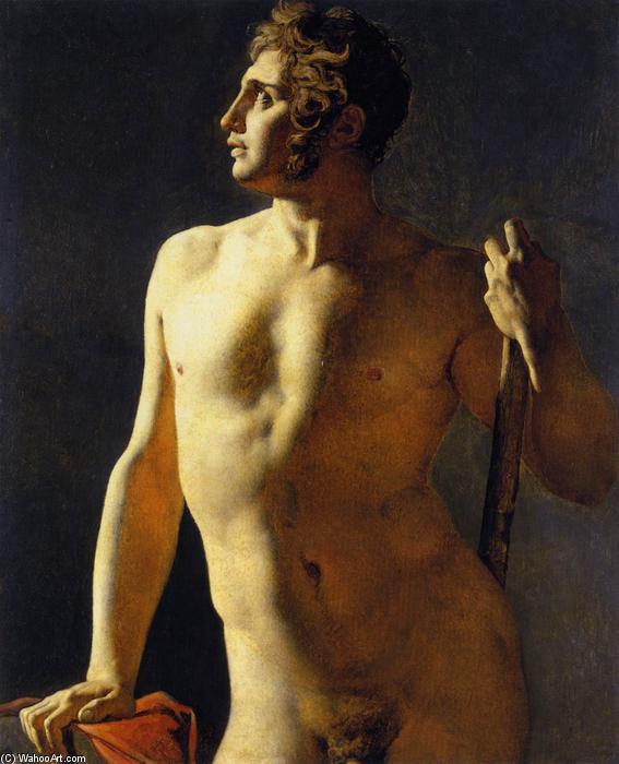 Studio di un nudo maschile, 1801 di Jean Auguste Dominique Ingres ...