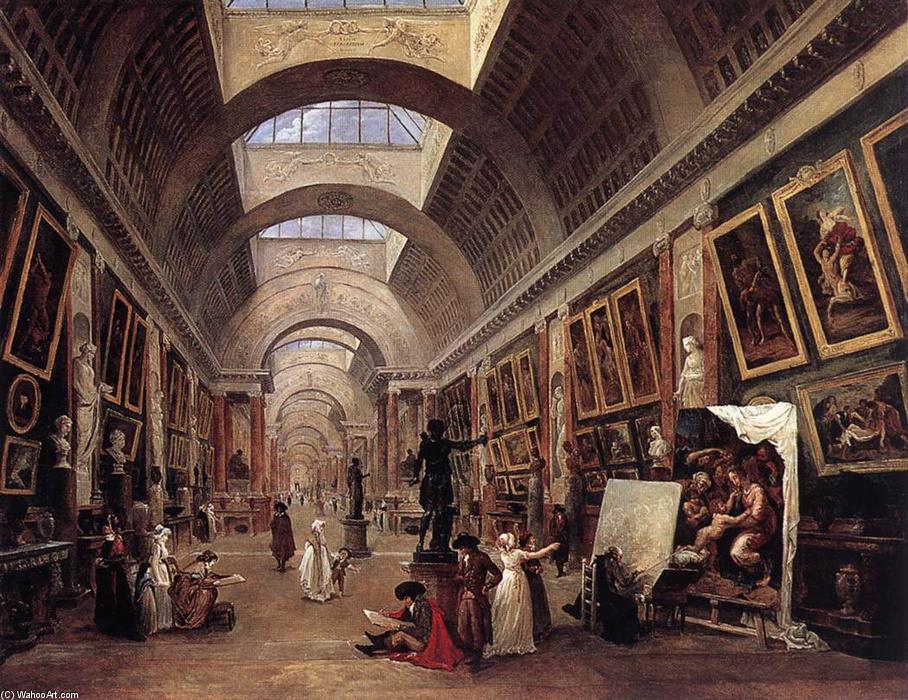 Design per la grande galerie del louvre 1796 di hubert for Riproduzioni design