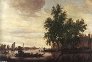 Salomon Van Ruysdael - The Ferryboat