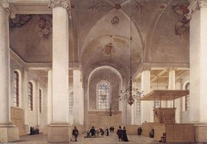 Pieter Jansz Saenredam - Interni of i Church of S Anne pollici Haarlem
