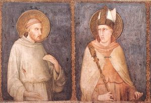 Simone Martini - S Francis e san Louis of Toulouse