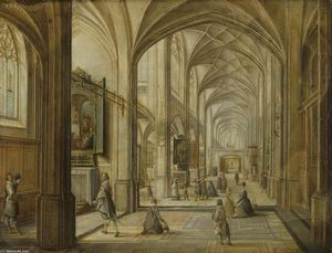 Hendrick Van The Younger Steenwyck - interno di un gotico Chiesa