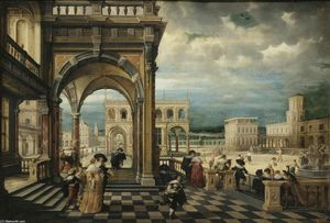 Hendrick Van The Younger Steenwyck - Italiano palazzo