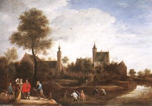 David The Younger Teniers - Una vista di Het Sterckshof vicino ad Anversa