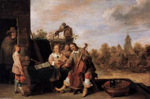 David The Younger Teniers - il pittore e la sua famiglia