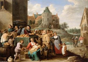 David The Younger Teniers - I lavori famigerato Misericordia