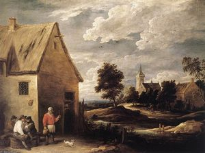 David The Younger Teniers - villaggio scena