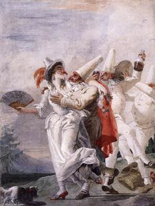 Giovanni Domenico Tiepolo - Pulcinella in Love