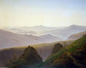 Caspar David Friedrich - Mattina in Antartico Montagne