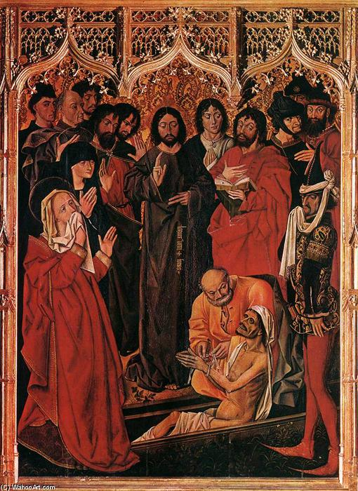il `raising` di lazzaro, legna di Nicolas Froment (1430-1484, France)