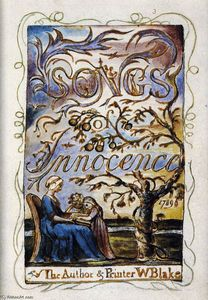 William Blake - Songs of Innocence (Frontespizio)