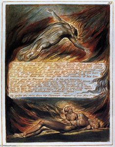 William Blake - La Discesa di Cristo