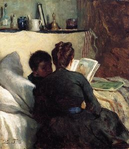 Jonathan Eastman Johnson - The Little convalescente
