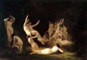 William Adolphe Bouguereau - La nymphee (noto anche come il ninfeo)