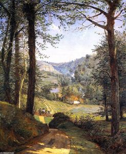 Jasper Francis Cropsey - Luccombe Chine, Isola di Wight