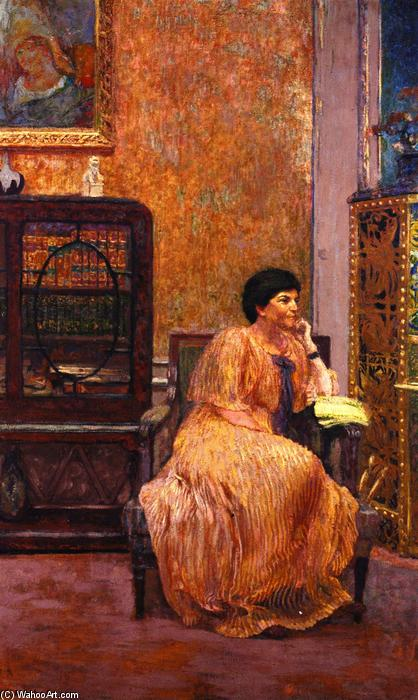 Madame Marcel Kapferer at Home, affreschi di Jean Edouard Vuillard (1868-1940, France)