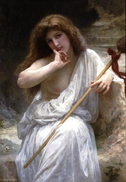 Mailice, 1899 di William Adolphe Bouguereau (1825-1905, France)