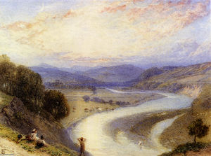 Myles Birket Foster - Melrose Abbey dalle Banche del Tweed