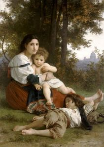 William Adolphe Bouguereau - madre e bambini