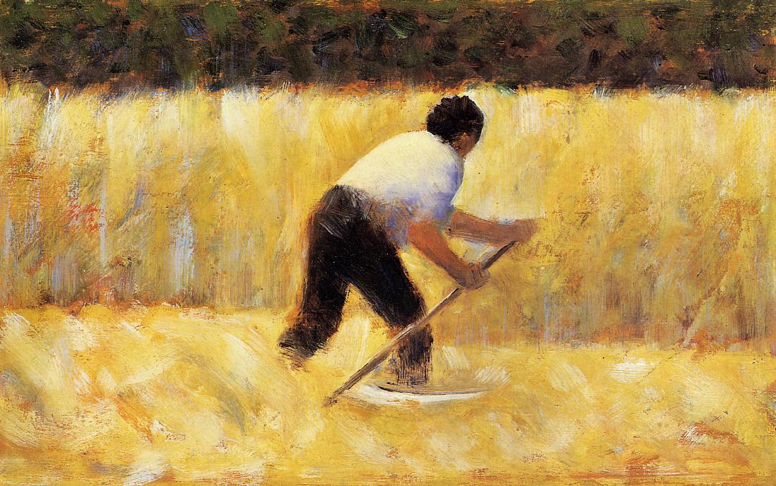 Il Mower, olio di Georges Pierre Seurat (1859-1891, France)