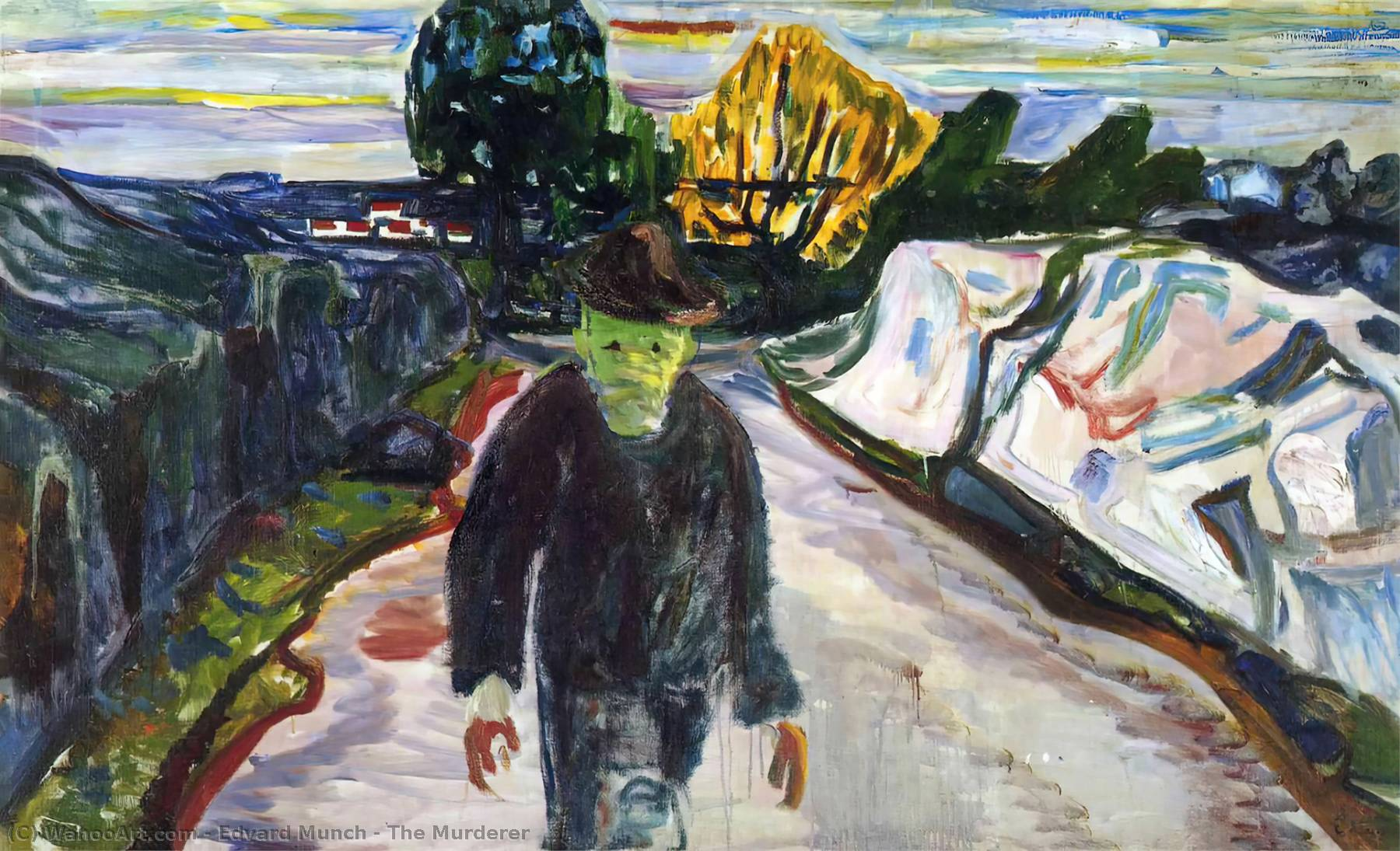 L Assassino, olio su tela di Edvard Munch (1863-1944, United Kingdoms Of Sweden And Norway)