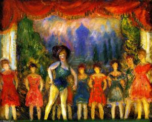William James Glackens - musica sala svoltare  studiare