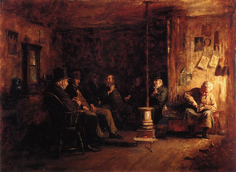 il `nantucket` scuola di filosofia, 1887 di Jonathan Eastman Johnson (1824-1906, United Kingdom) | Copia Pittura | WahooArt.com